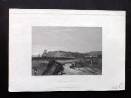 After Stanfield 1838 Antique Print. View near Havre, France
